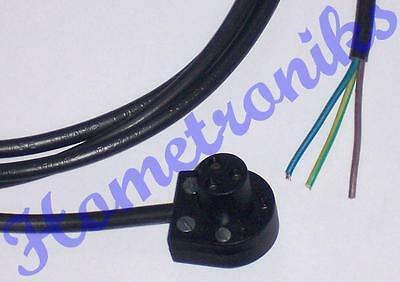 3 Pin Bulgin Mains Lead For Quad 33, 303, Fm3 - 2M New