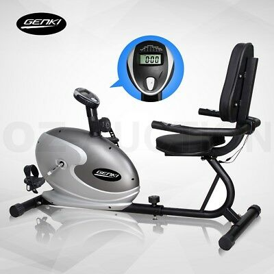 Magnetic Recumbent Bike With LCD Display Home Fitness Gym Exercise Resistance