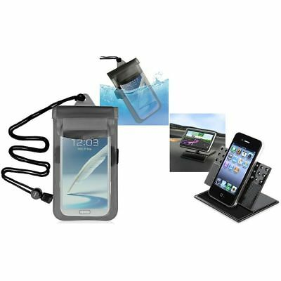 Clear Black Waterproof Bag Pouch Case+Car Dashboard Cradle For iPod Touch 4 4G