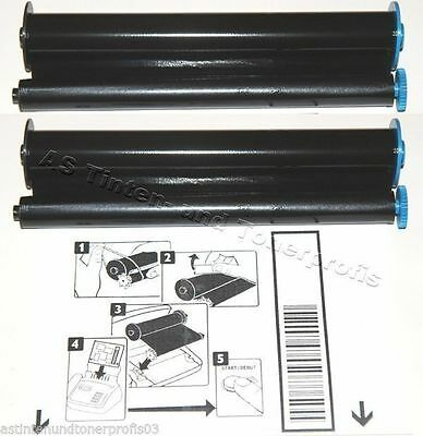 2x Thermotransfer-Rolle TTR Philips PFA-321 PFA-322 kompatibel Ink-Film Faxrolle