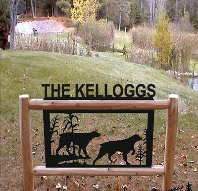 HUNTING DOGS-SPANIELS-PETS CLINGERMANS LOG SIGNS-RUSTIC LOG DECOR*
