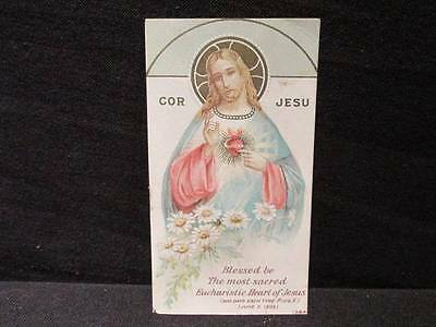 Cor Jesu Blessed be the most sacred Eucharistic Heart of Jesus June 1905 Card