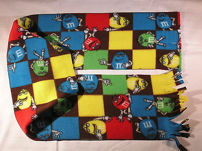 M & Ms blocks Fleece Scarf Chocolate Lovers Check this out!