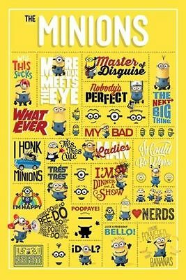 "Despicable Me Minions Infographic - Maxi Poster - 24"" x 36"""