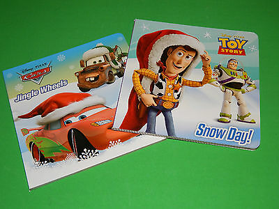 New Lot of 2 Board Books Christmas Style Childrens Stocking Stuffer Disney