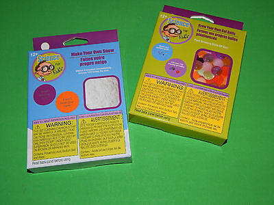 New Lot of 2 Childrens Science Kits Educational Gifts Rainy Day Fun Kids