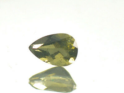 0.35cts drop pear 6x4mm moldavite faceted cutted gem BRUS615