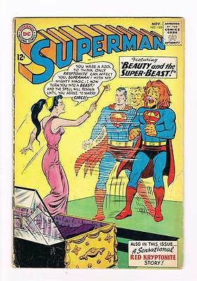 Superman # 165 Beauty and the Super-Beast ! grade - 3.5 hot scarce book !!