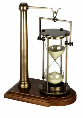 Bronzed 30 minute Hourglass on Stand Brass Sand Timer Desk Accessory Gift NEW