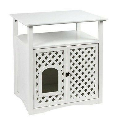 Kerbl Armoire pour Chat Helena 64x46x65 cm [Blanc] - Ce meuble moderne NEUF