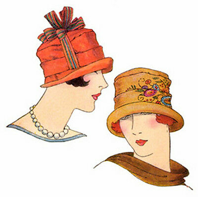 #H1440 - 1920s Pleated Cloche Hat Sewing Pattern with Optional Embroidery