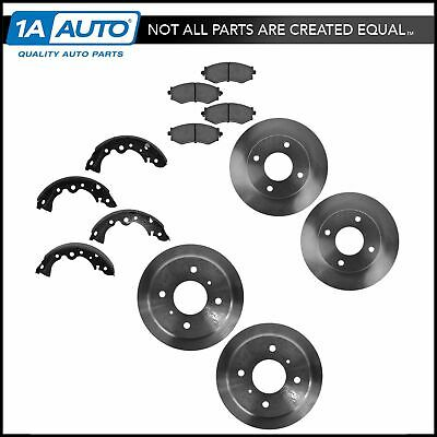 Brake Rotors Pads Drums Shoes Kit Front & Rear for 01-06 Nissan Sentra