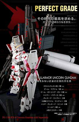 BANDAI Perfect Grade PG 1/60 FA Expansion Unit RX-0 for Unicorn Gundam Model Kit