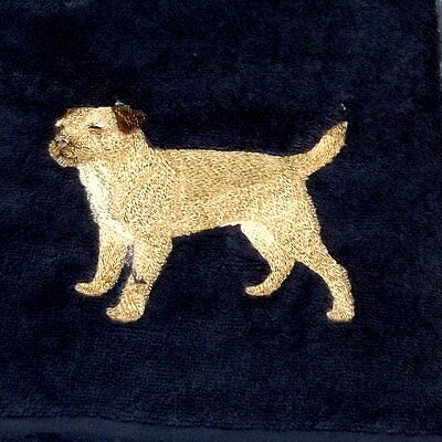 Border Terrier  Dog Embroidered Towels, Dog Gift, personalise, Embroidery