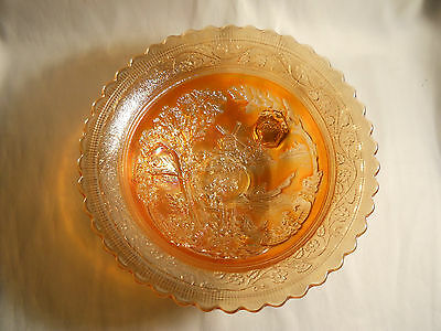 Imperial Carnival Glass Marigold 3 Footed Double Dutch Windmill Bowl