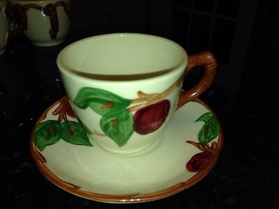 Franciscan Apple Cups & Saucers USA