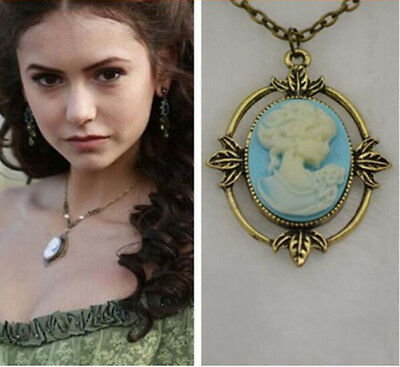 Classic Fashion Vintage Style The Vampire Diaries Katherine Cameo Image Necklace
