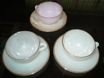 "Arcopal Teacups made in France ""Opalescentl "" Finish"