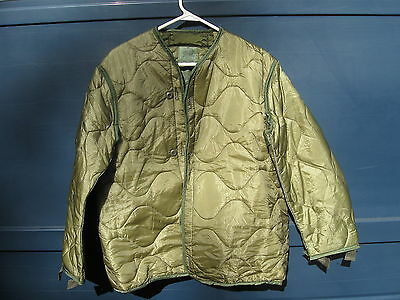 Genuine U.s. Military M-65 M65 Field Jacket Liner Small Excellent Condition