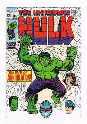 Incredible Hulk # 116  The Eve of...Annihilation !  grade 8.0  hot book !!