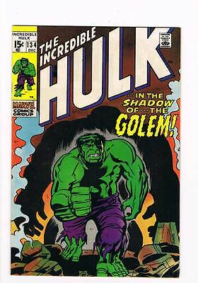 Incredible Hulk # 134  In the Shadow of...the Golem !  grade 8.0 hot book !!