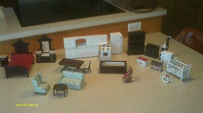 23 pieces of dollhouse furniture,made from realife miniatures kits