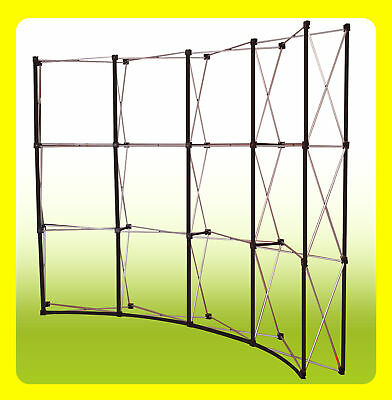 10' Pop Up Trade Show Exhibit Display Booth Frame - CURVED