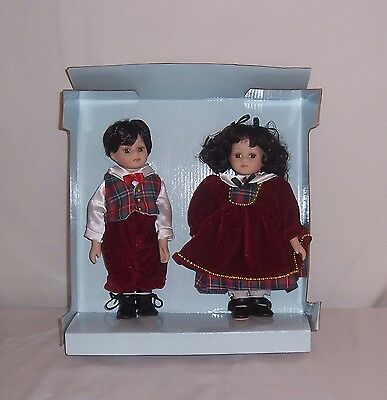 Enchanted World Collection Sunday Best Marty & Mary Petite Porcelain Dolls FS!