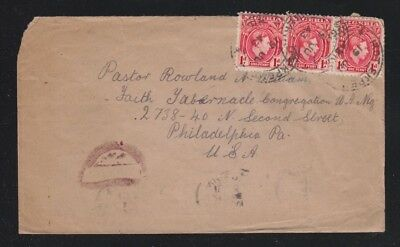 Nigeria 1943 Three Wwii Censored Covers Port Harcourt, Ikot Ekpe & Lagos To Usa