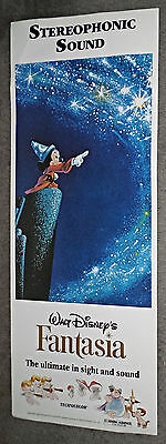 FANTASIA original rolled DISNEY 14x36 insert movie poster MICKEY MOUSE