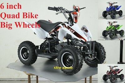 "49Cc Starter Mini Quad Bike 6"" Wheel Atv Buggy Kids 4 Wheeler Pocket Dirt Bike"