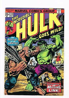 Incredible Hulk # 179  Once More...the Missing Link ! grade 4.0 hot book !!