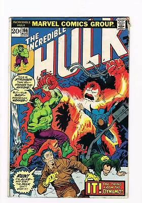 Incredible Hulk # 166  It ! The Thing from the Dynamo ! grade 3.5 hot book !!