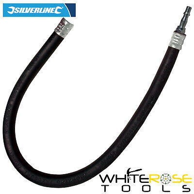 "Silverline 868750 600mm Air Line Whip Hose & Bayonet Fittings 1/4"" BSP"