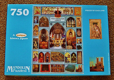 1993 MANDOLIN PUZZLES England WESTMINSTER ABBEY Jigsaw Puzzle 750.Sealed Pieces