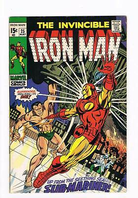 Iron Man # 25  Up from the Sea.the Submariner grade 6.5 movie scarce hot book !!