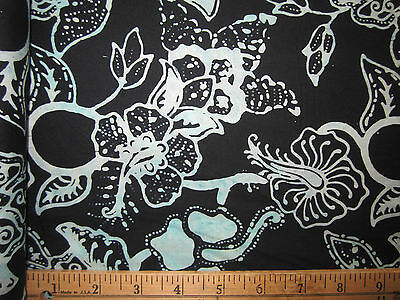 1 3/8 YDS:100% COTTON QUILT BATIK FABRIC #1226 DIVE