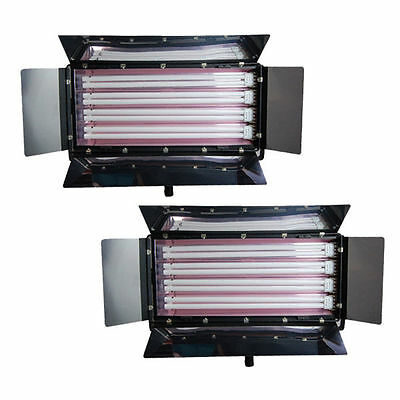Lighting 4-Bank Barndoor Light Panel Photo Lamp Digital Light Fluroescent 2PCS