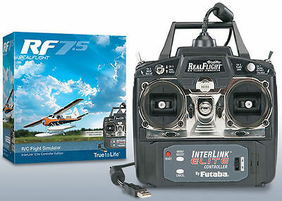 Real Flight 7.5 Rc Airplane Flight Simulator W/ Interlink Eflite Mode 2 Gpmz4520