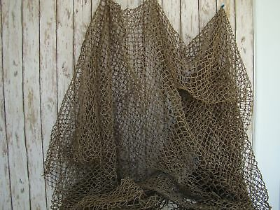 Authentic Used Fishing Net ~ 12'x12' HEAVY ~ Old Fish Netting ~ Nautical Decor