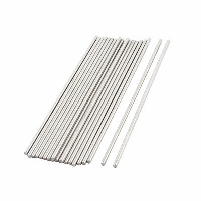 20 PCS 100x2mm Stainless Steel Straight Axles Shaft Rod Bar for DIY Toy