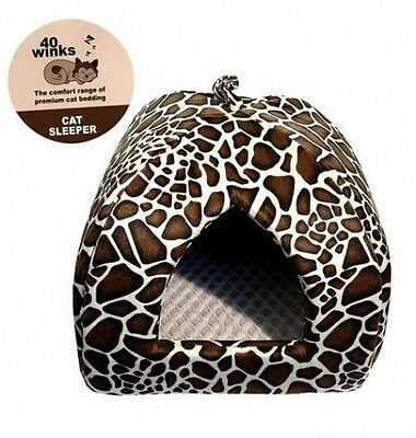 Rosewood Niche en Forme d'Igloo pour Chat Imprimé Animal - (40 Winks) NEUF