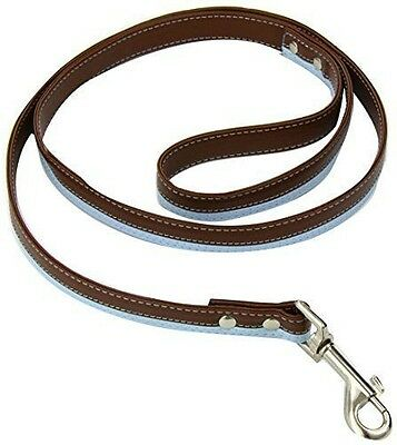 Doggy Things Laisse pour chien Design 2 rayures [S] [Chocolate/Blue]  NEUF