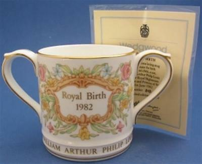 Limited Edition Wedgwood Birth of Prince William Loving Cup