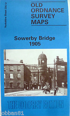 Old Ordnance Survey Maps Detailed Sowerby Bridge Yorkshire 1905 Godfrey Edition