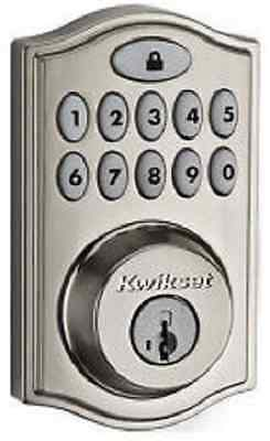 Kwikset 99140002 99140-002 Z-Wave Satin Smartcode Door Lock Deadbolt Keypad Pin