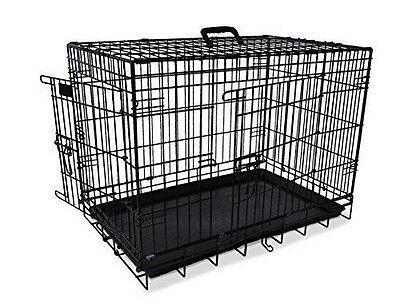Cage Transport Noir Metal - Cage [64 cm] - Nobby - Pour AnimauxType : NEUF