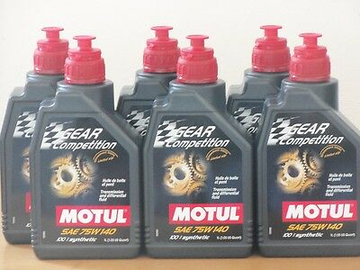 15,80€/l Motul Gear  Competition SAE 75W - 140  6 x 1 ltr