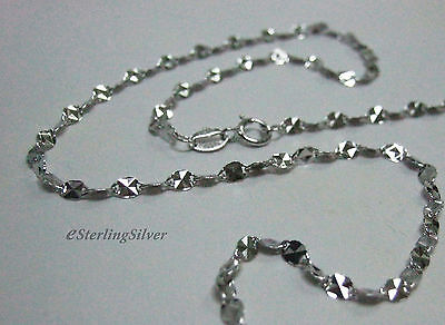 """925 Sterling Silver Designer Chain / Necklace - 16"""" Inches, 1.9 Grams, 2.6mm"""