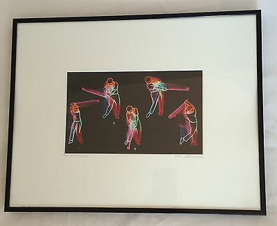"""Alex Pietersen Framed Signed & Numbered Print """"The Swing"""" Golfing Image #10/250"""